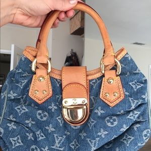 Handbags - This weekend only**Louis Vuitton Pleaty denim Marc